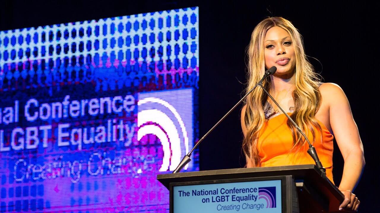 Laverne Cox speaking at Creating Change