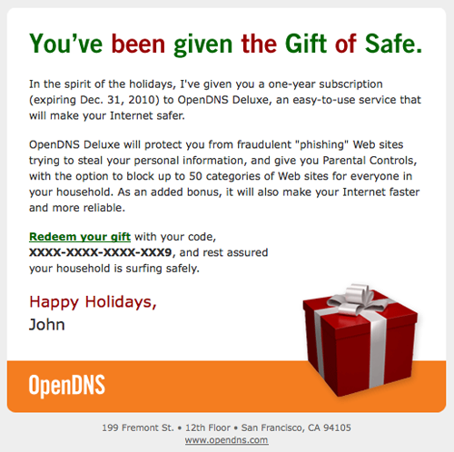 Gift of Safe
