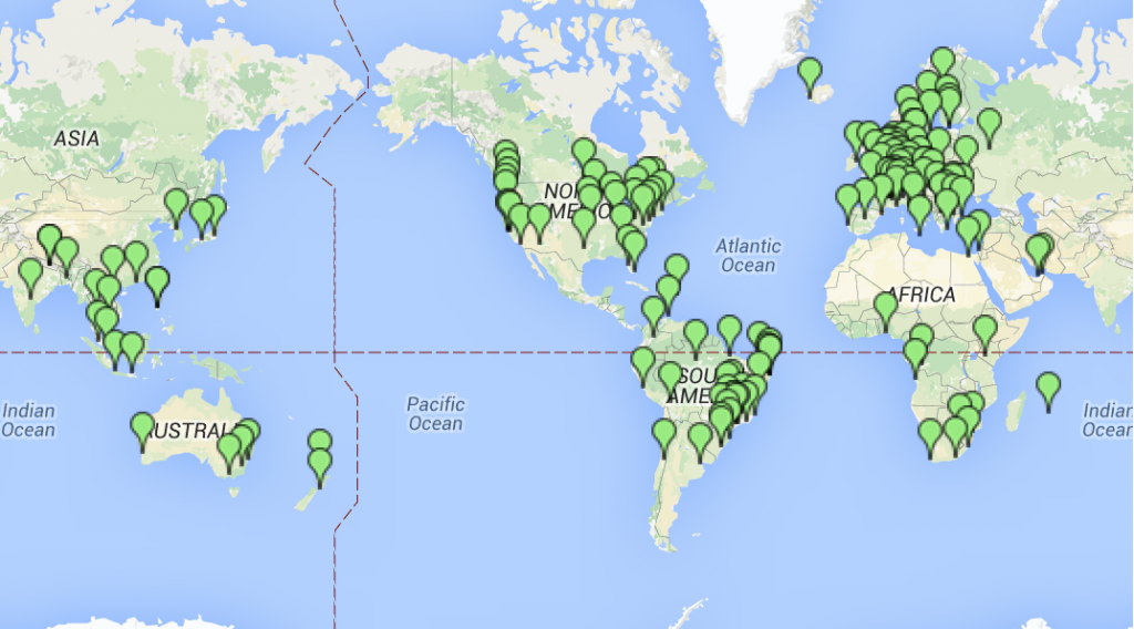 Internet Exchanges Map