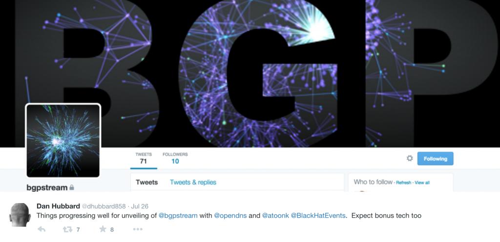 BGP Stream Twitter