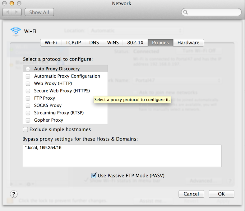 what is network proxy settings