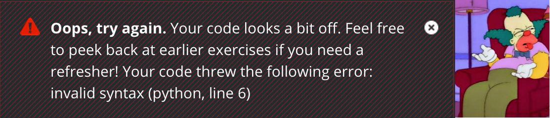 krusty syntax