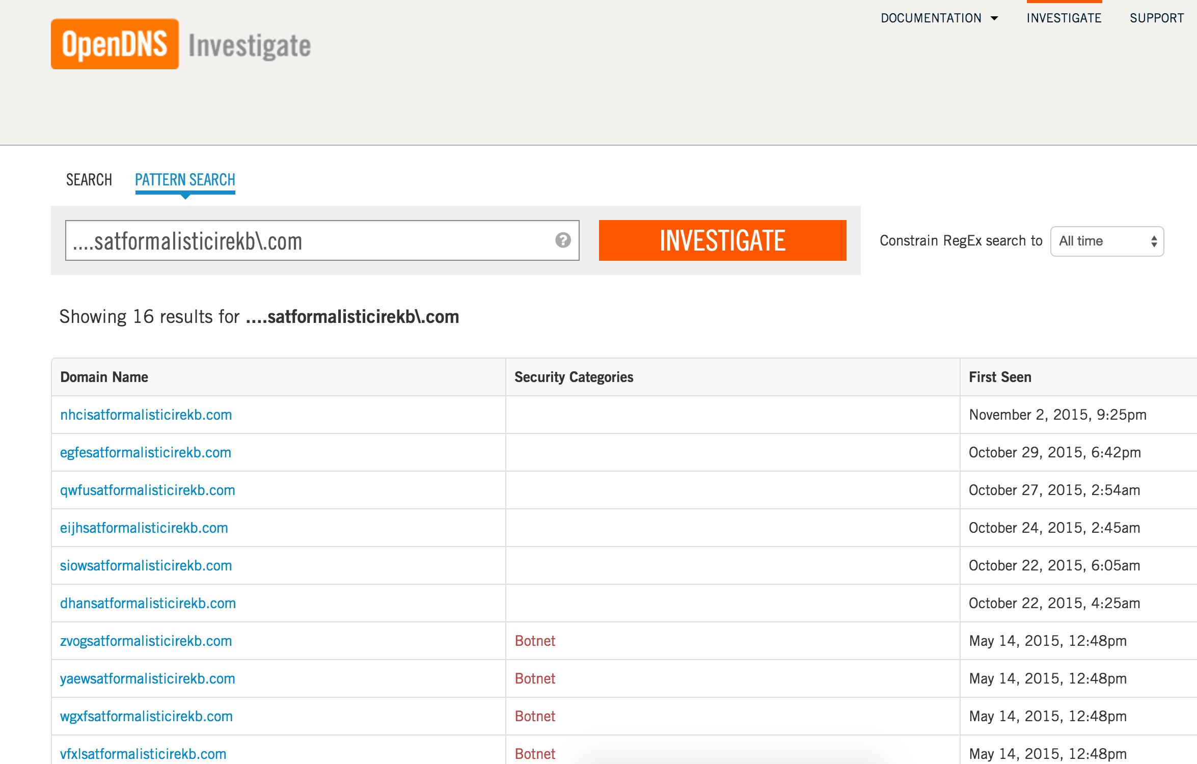 Banjori Domain Search