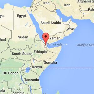 Djibouti is here.