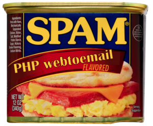 PHP webtoemail Spam