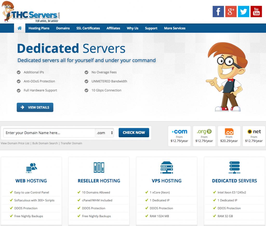 thcservers.com's main web site
