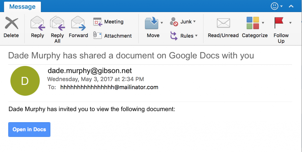 Detecting The Google Docs Phishing Attack Using Traffic Analysis - Using google docs