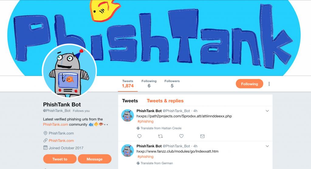 PhishTank Bot