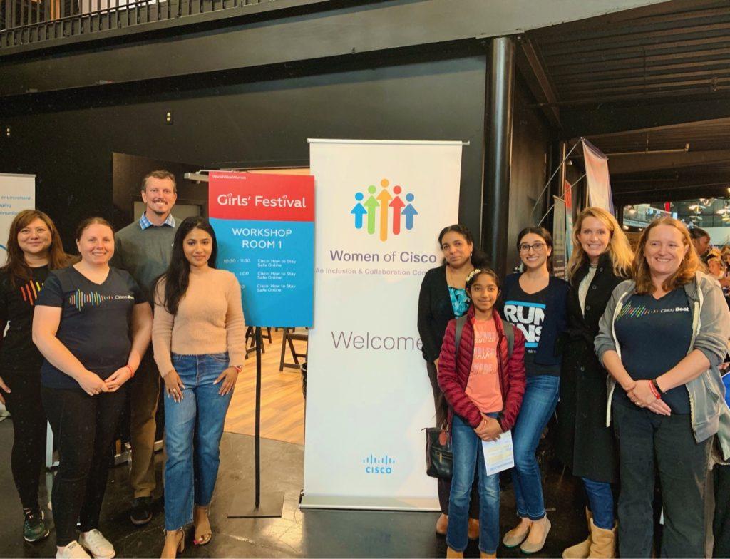 World Wide Women Girls' Festival in San Francisco Cisco Umbrella Group Photo 2019