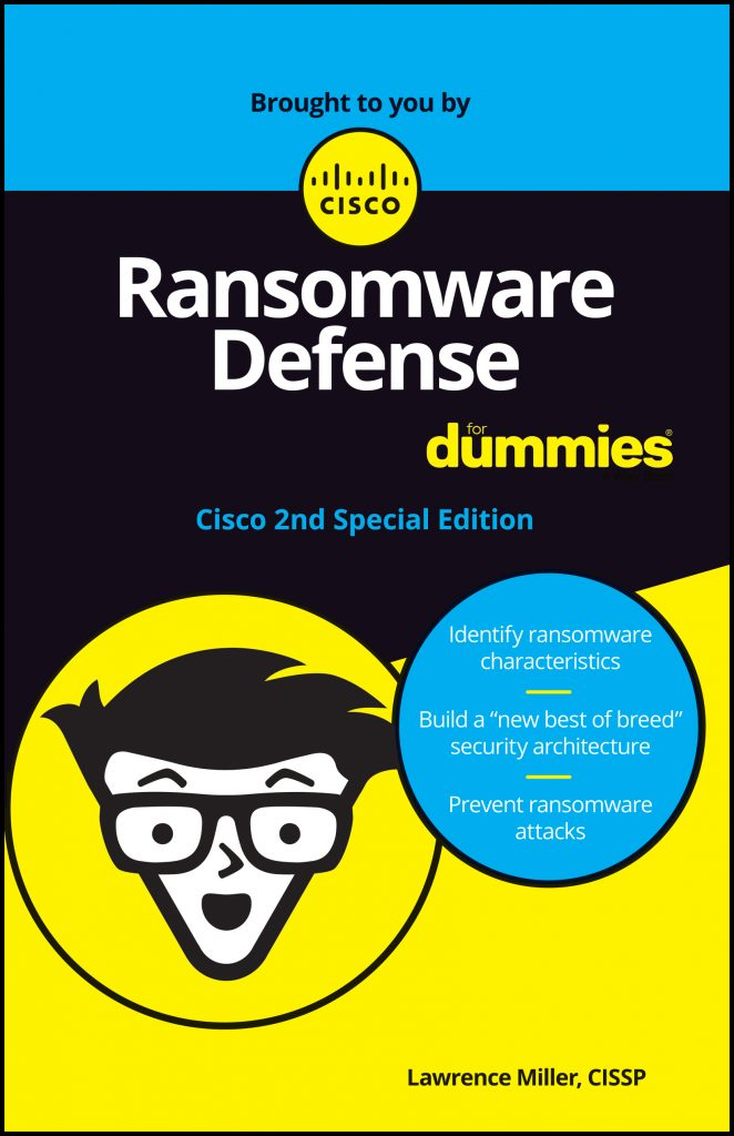Ransomware Defense For Dummies Cisco Umbrella eBook Cover