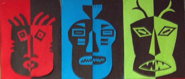paper african masks