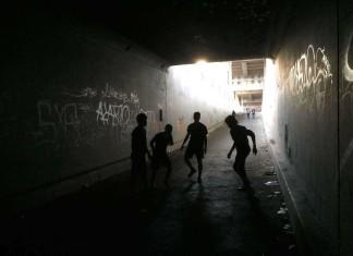 Urban street soccer