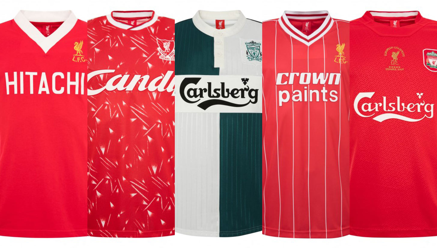 4edbdb13e85 Liverpool Brings Back Their Most Celebrated Kits in New Retro ...
