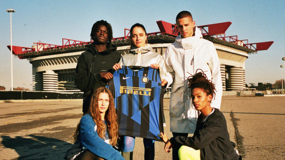 quality design 748da e8ac7 The mainstay Pirelli logo is prominently displayed in a soft gold color  while the Inter Milan crest sits comfortably familiar at the top left of  the jersey.