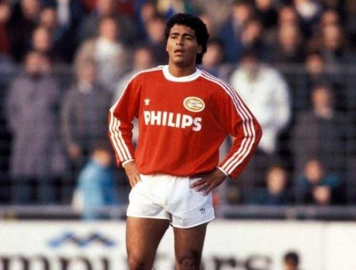 1986-89 psv home kit romario