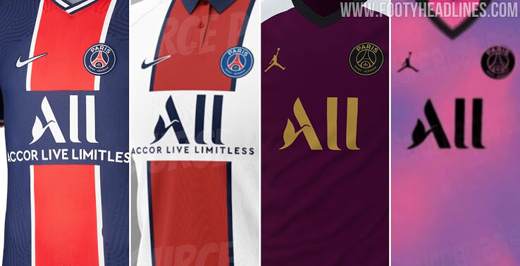 Psg 20 21 Home Away Third Fourth Kits Urban Pitch