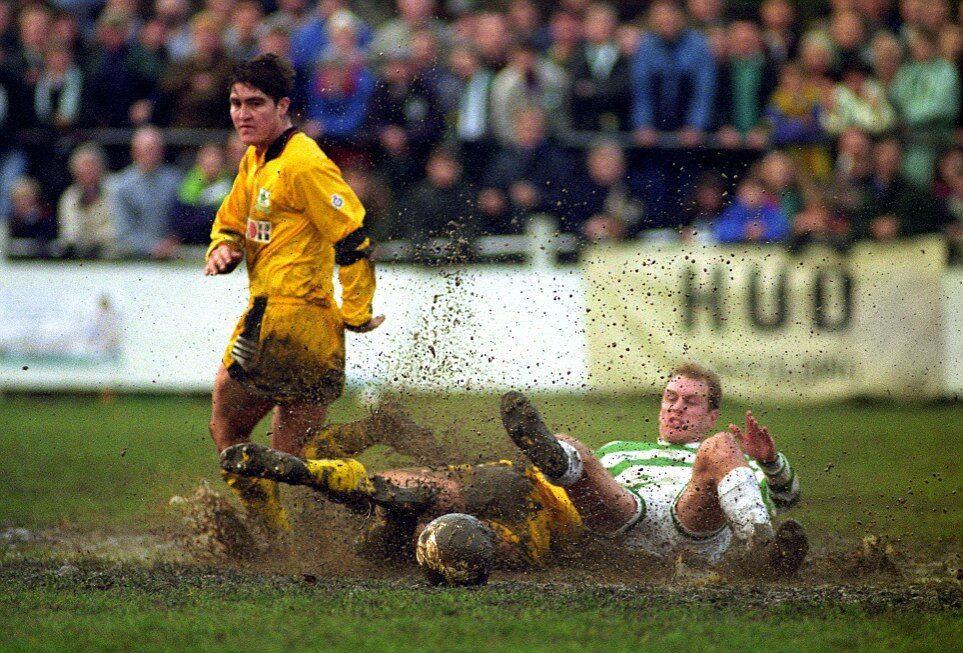 muddy football pitch