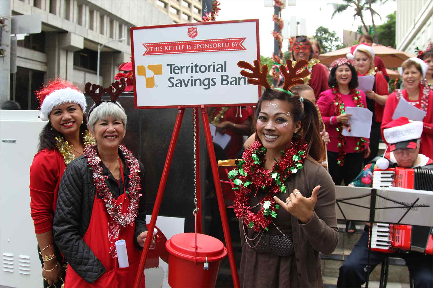 territorial savings bank staff ringing bells
