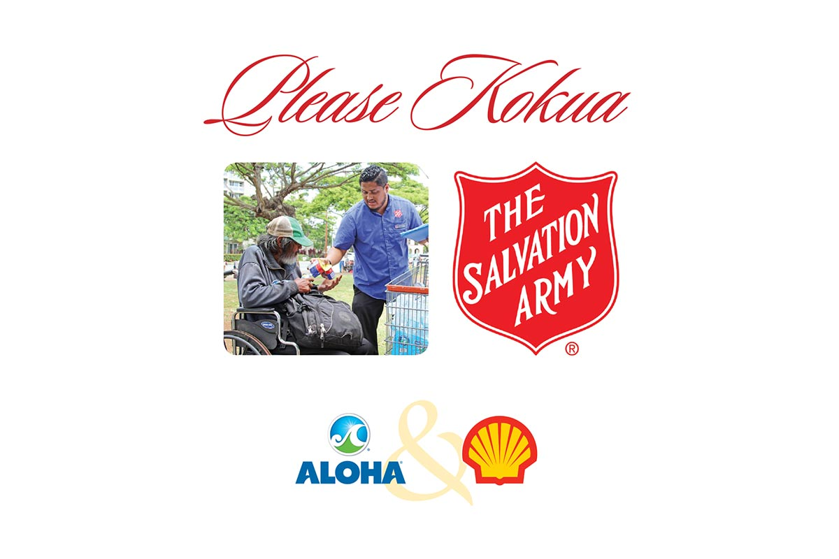 Aloha Petroleum Salvation Army Canister Campaign Graphic