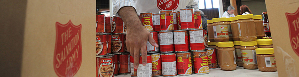 Donate non-perishable, shelf-stable food.