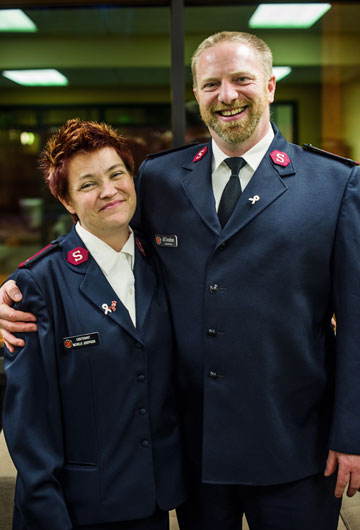 Corps Officers Lts. Jeff and Michelle Josephson