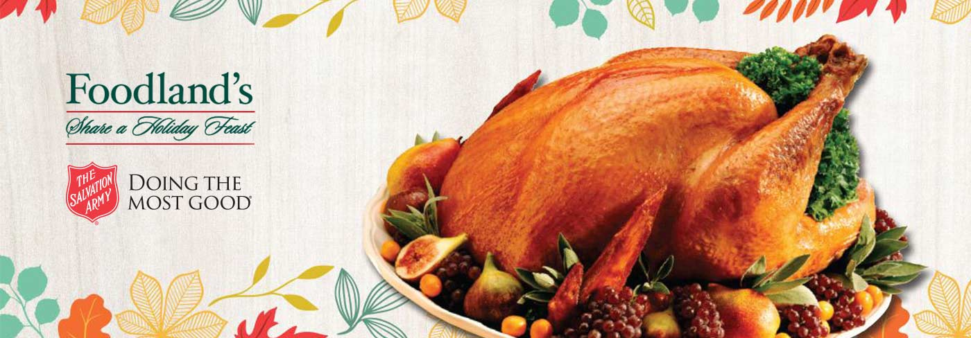 Foodland's Share a Holiday Feast banner