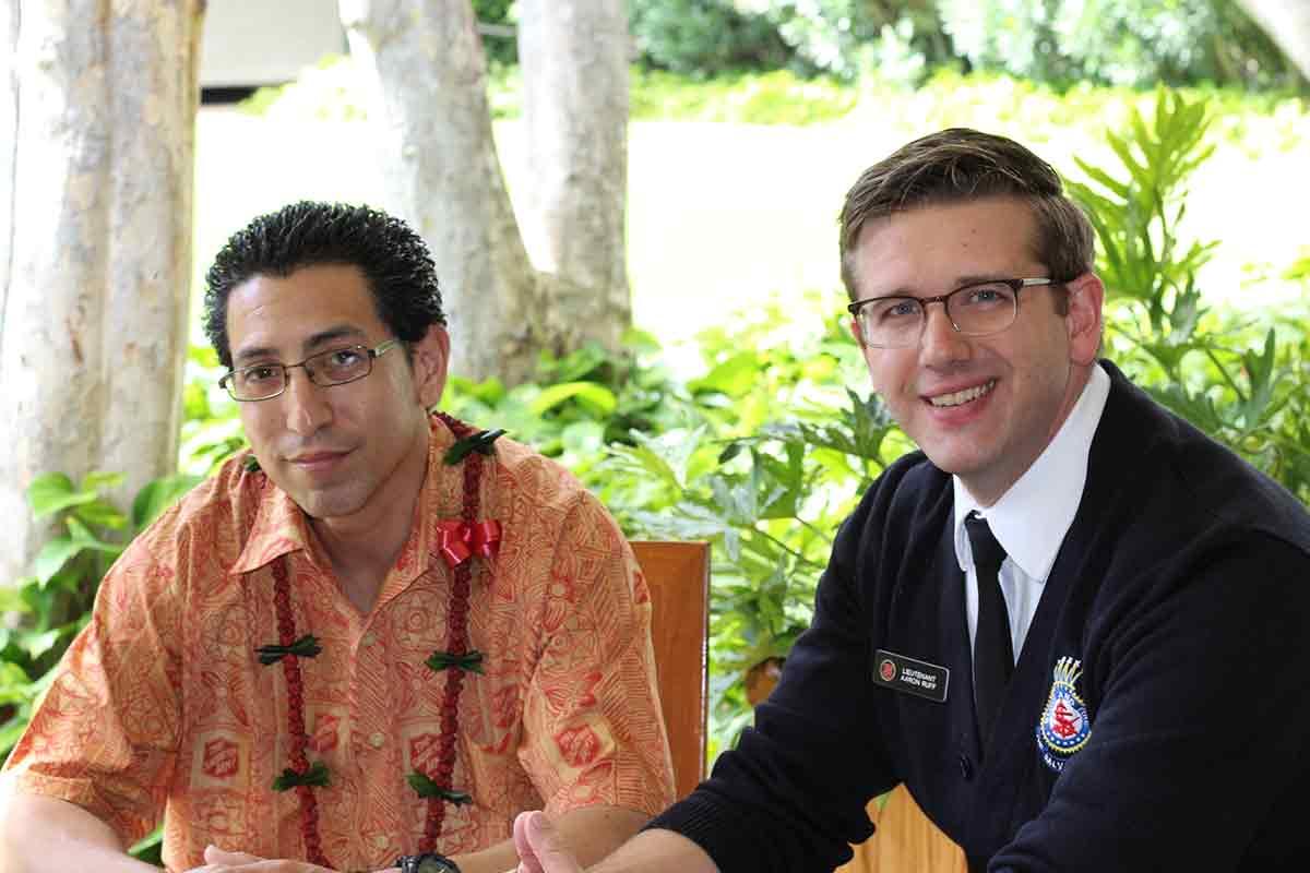 Chico Garcia with Lt. Aaron Ruff