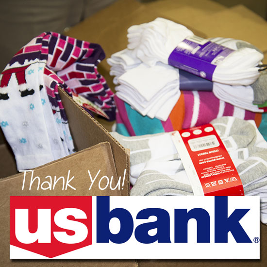 USBank Sock Donation