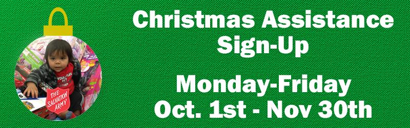 Christmas Assistance Sign-Ups Image