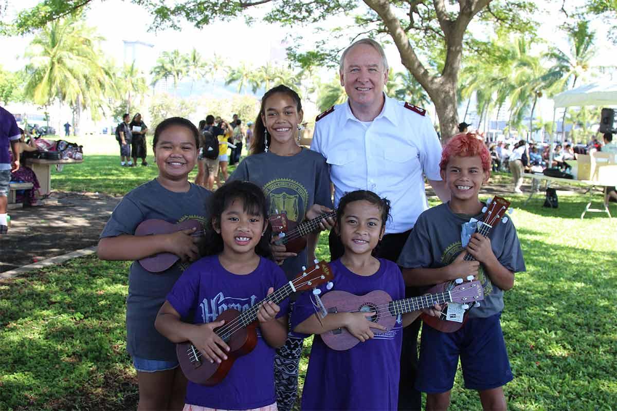 Salvation Army Hawaii at Ukulele Picnic
