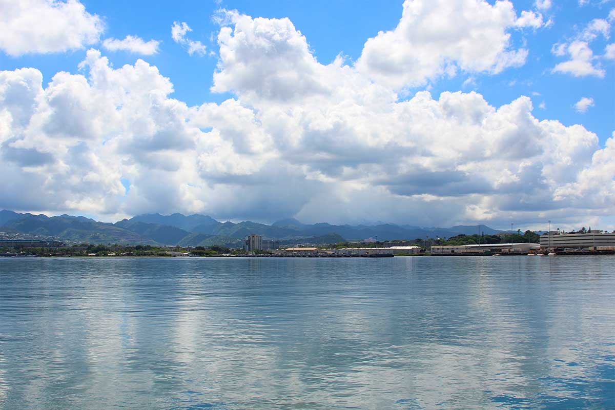 Oahu from Pearl Harbor