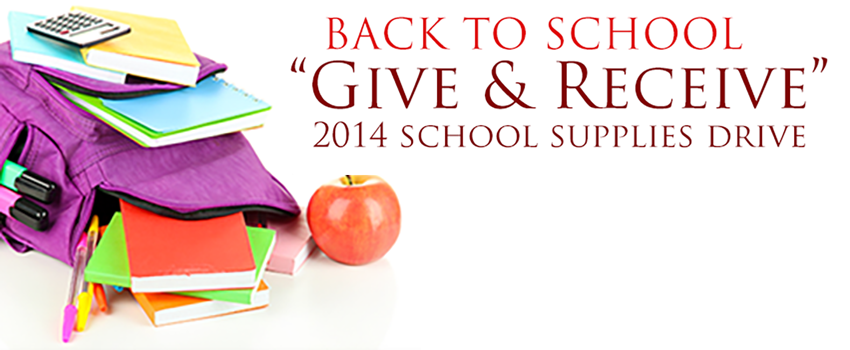 2014 Back To School Supplies Drive