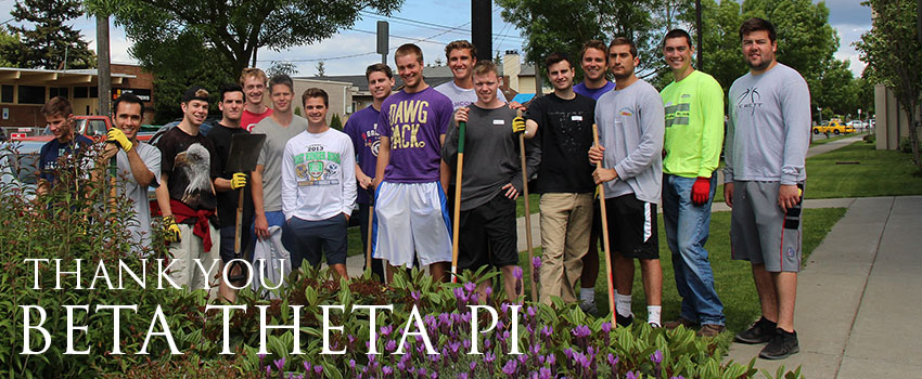 Betas Volunteer At White Center