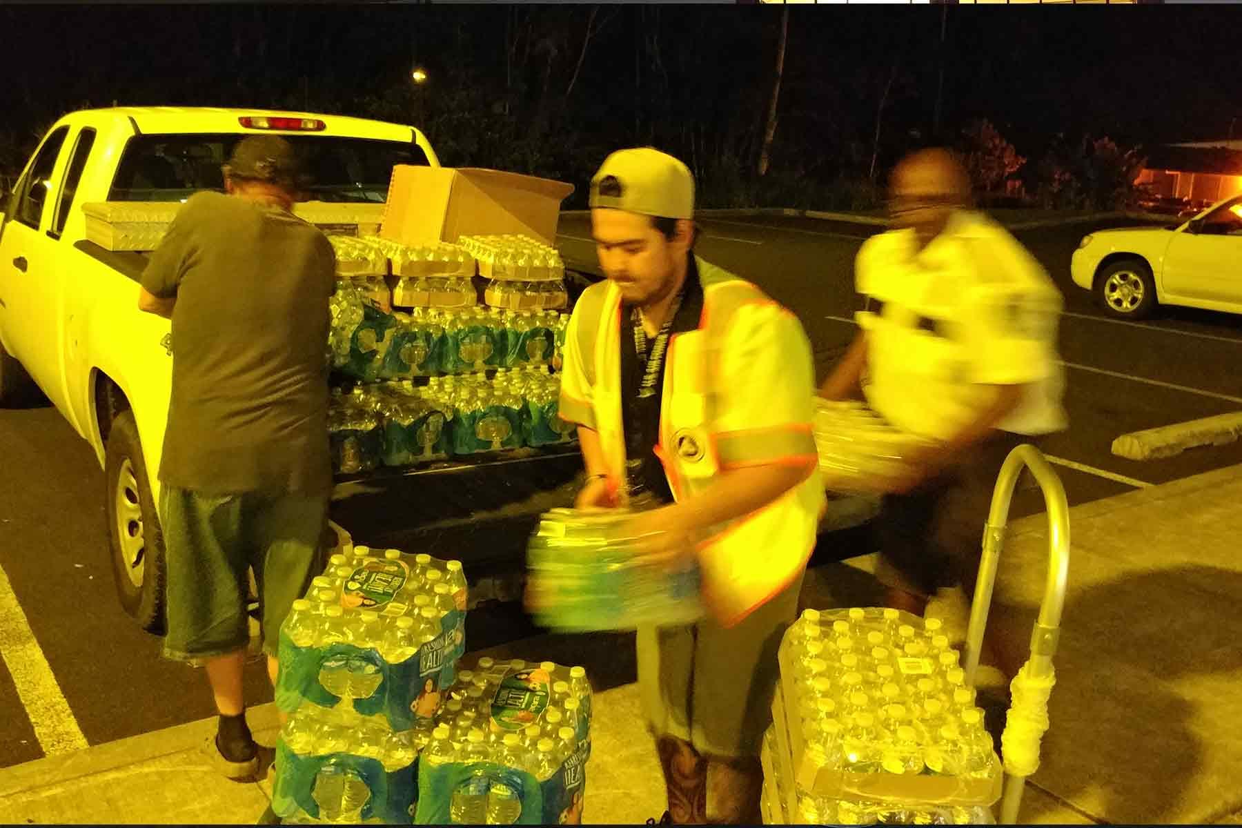 lava flow relief efforts