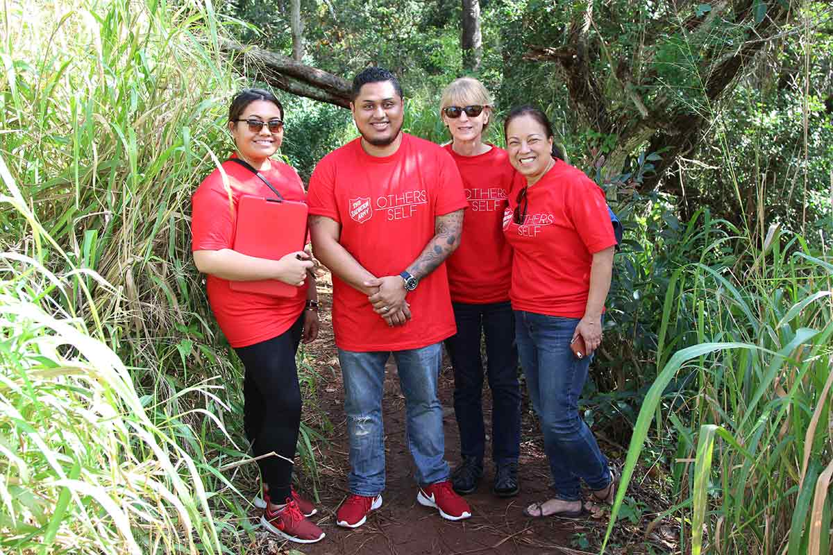 Salvation Army homeless outreach team in Wahiawa