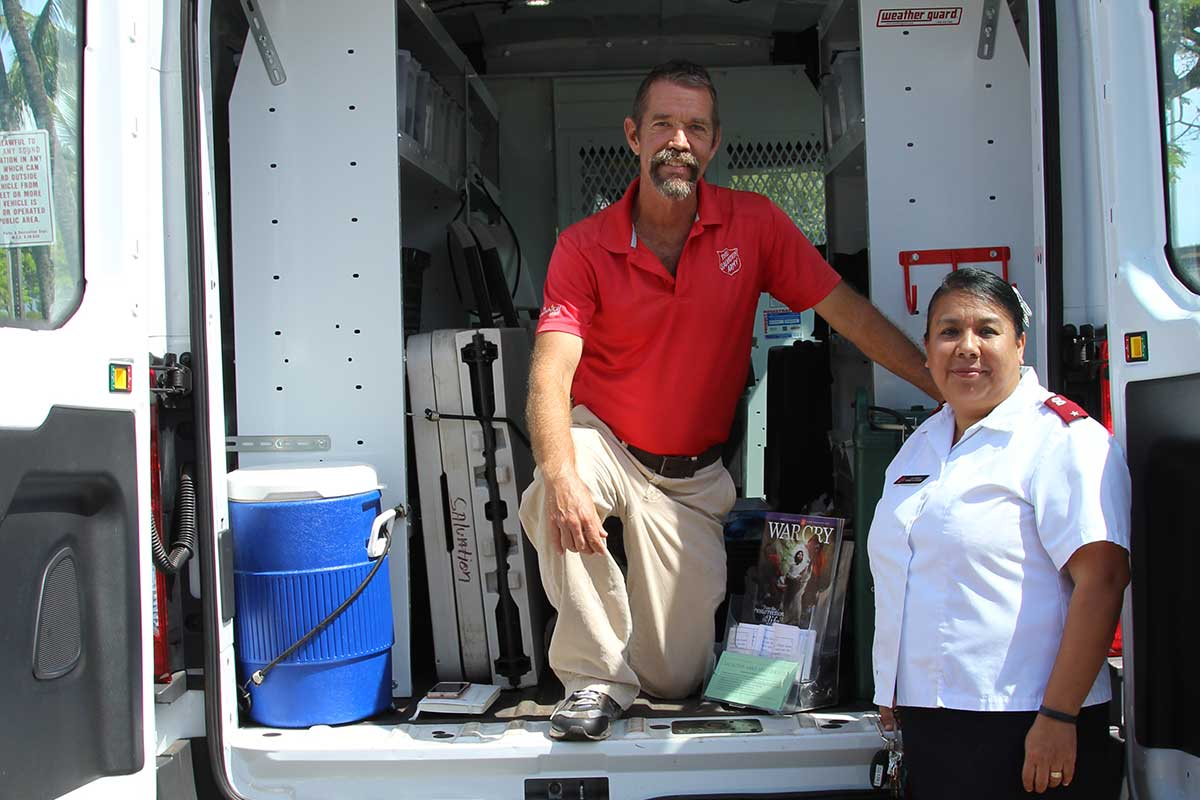 Salvation Army staff in Kahului Caravan