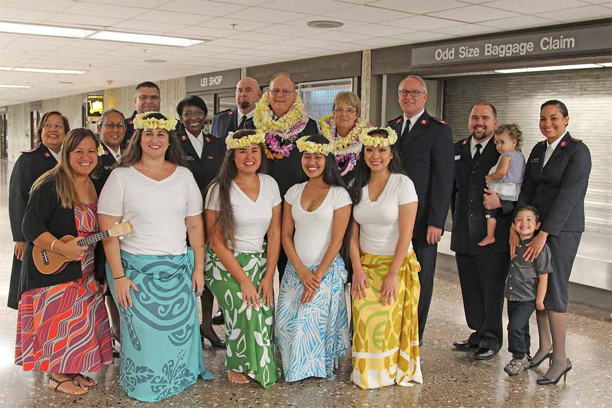 The Salvation Army General and Hawaii Officers with Halau