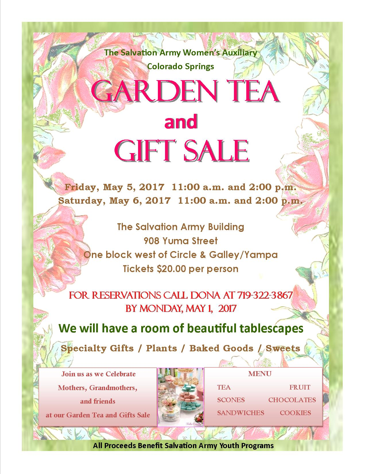 el paso county home the salvation army women s auxiliary garden tea 5th 6th printable flyer click here