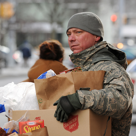 The Salvation Army Programs Provide Help To Military Families Seeking Food Assistance