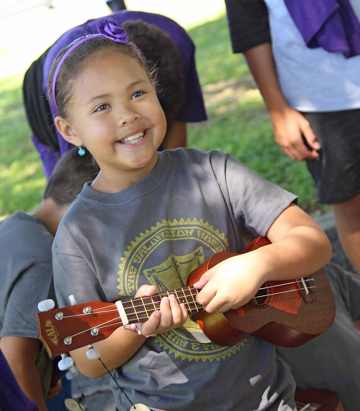 Salvation Army Hawaii youth at Ukulele Picnic