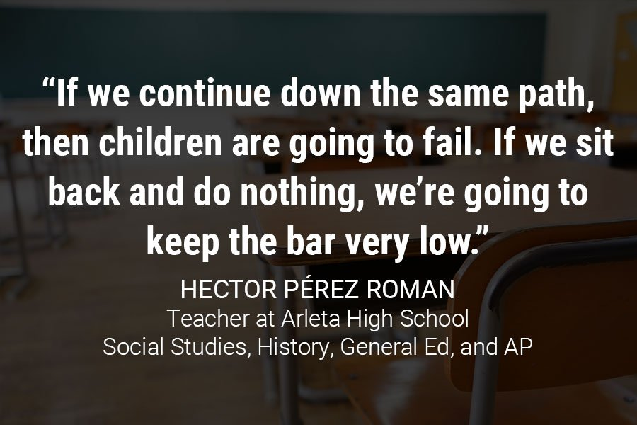 """If we continue down the same path, then children are going to fail. If we sit back and do nothing, we're going to keep the bar very low."""