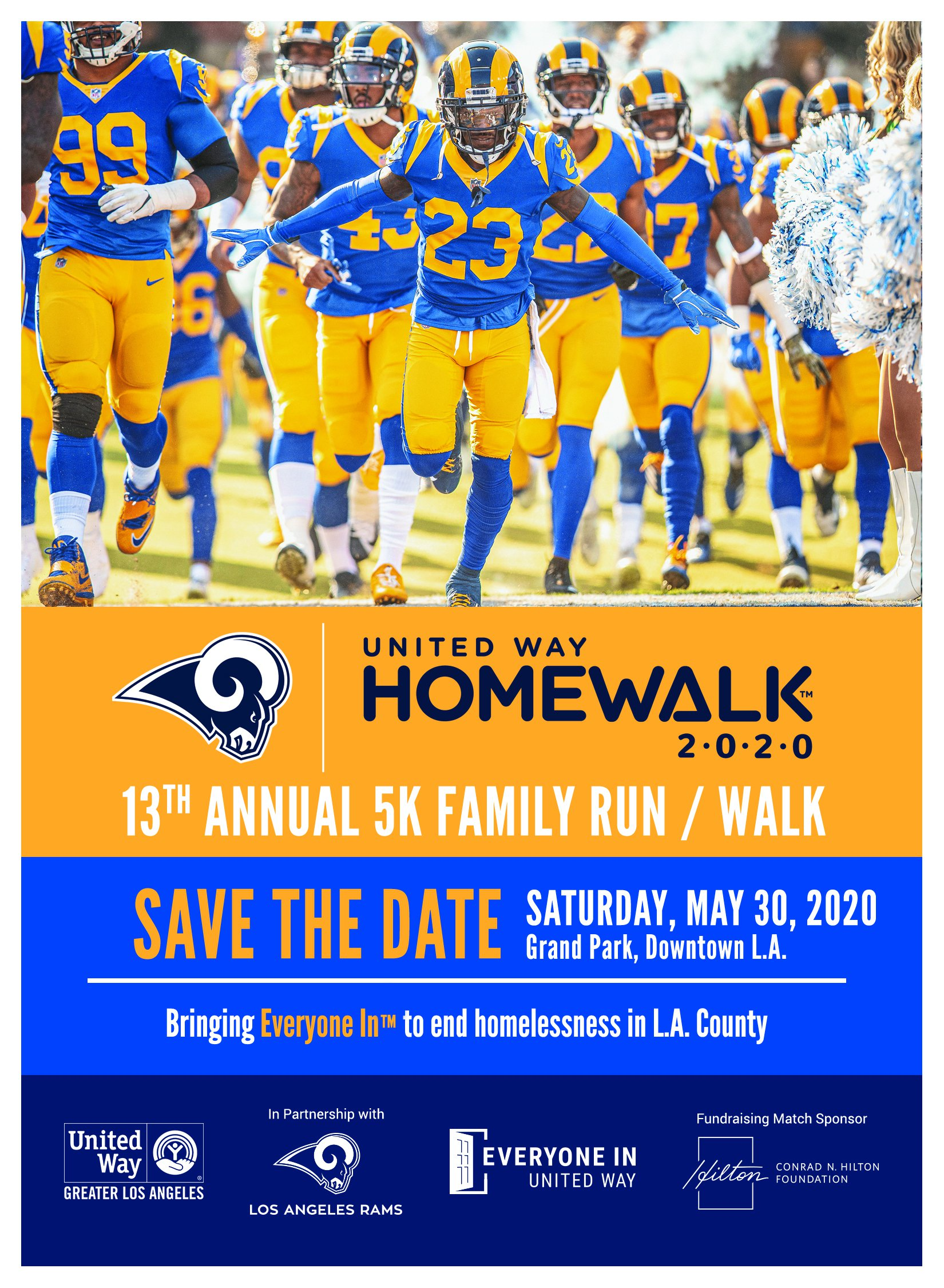 HomeWalk 2020 Save the Date Saturday, May 30th at Grand Park, Downtown Los Angeles