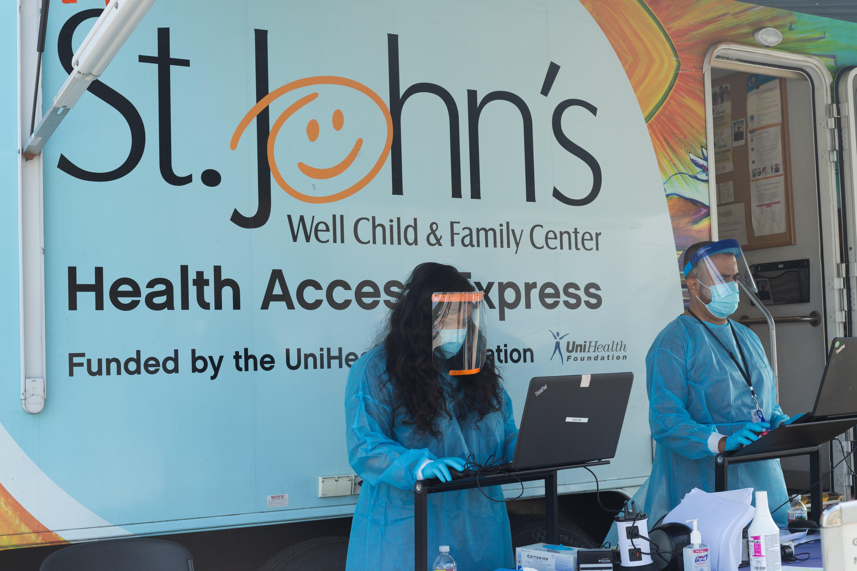 St. Johns mobile clinic testing for virus