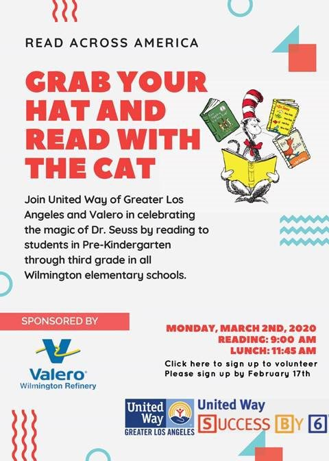 Read Across America - Grab your hat and read with the cat