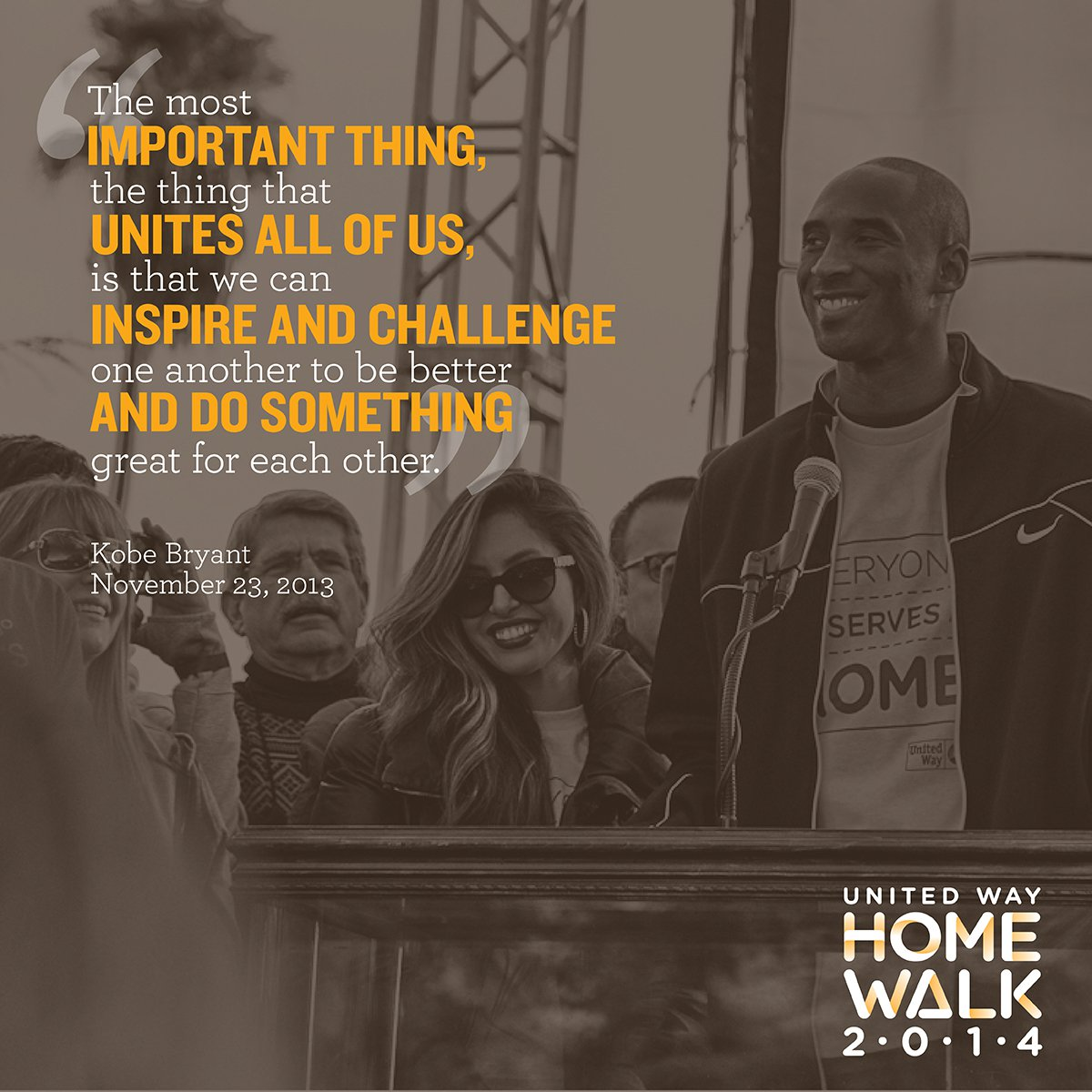 Kobe Bryant HomeWalk 2014 Quote