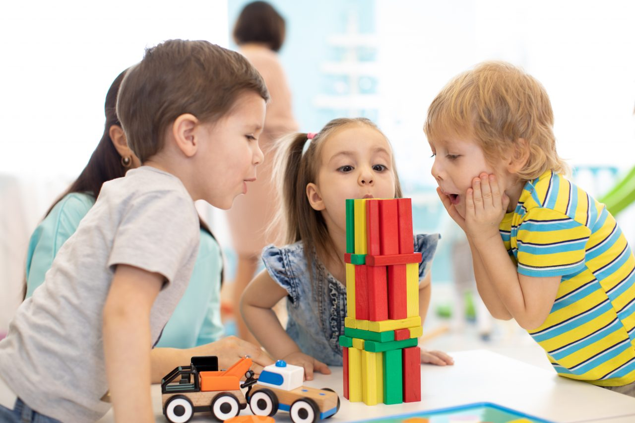A photo of kids playing at the Children's Autism Center.