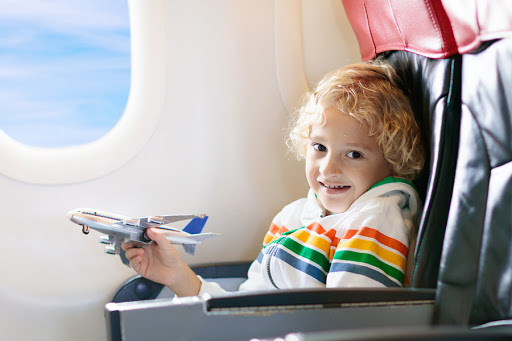 A child with autism on a plane.