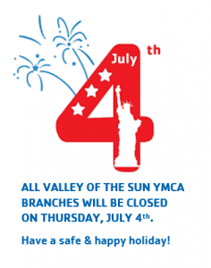 All VOS Y Branches Closed on July 4th
