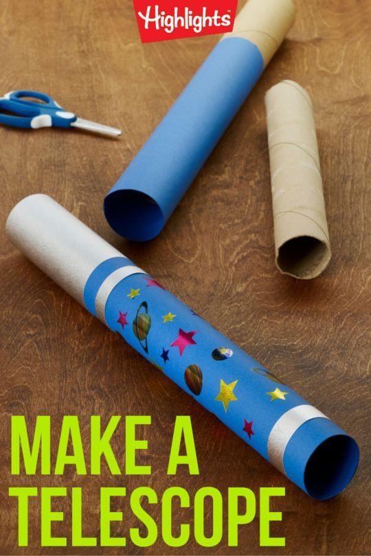 Toddler Telescope Craft