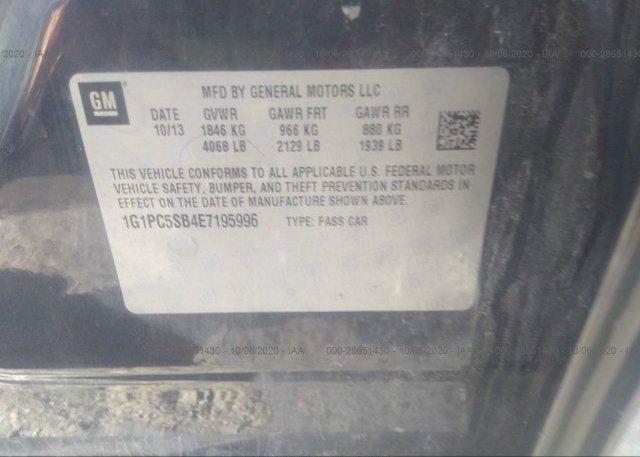 1G1PC5SB4E7195996 2014 CHEVROLET CRUZE